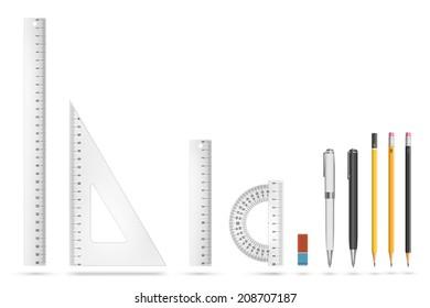 Vector education equipment supply illustration