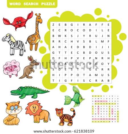 vector education game children about animals のベクター画像素材