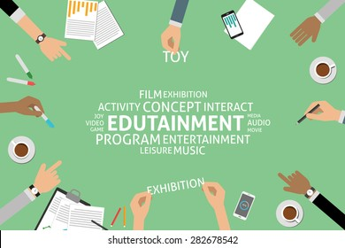 vector edutainment concept,template