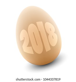 Vector Egg with year 2018