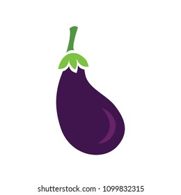 vector Eggplant illustration - vegetable clip art isolated - food icon