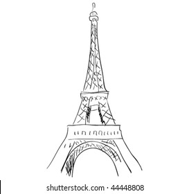 vector eiffel tower