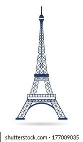 Vector Eiffel Tower Paris. Icon design