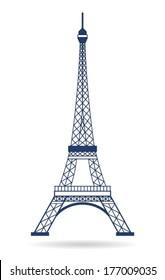Vector Eiffel Tower Paris. Icon design