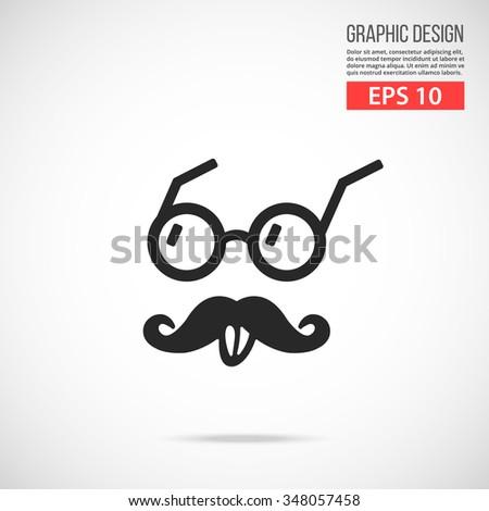 Vector Einstein style icon