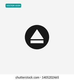 Vector eject button icon . Media symbol . Eject music or play video.
