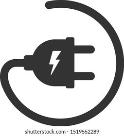 Vector electric adapter flat icon. Vector pictograph style is a flat symbol electric adapter icon on a white background.