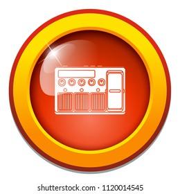 vector electric amplifier sign. guitar amp illustration, sound music equalizer symbol