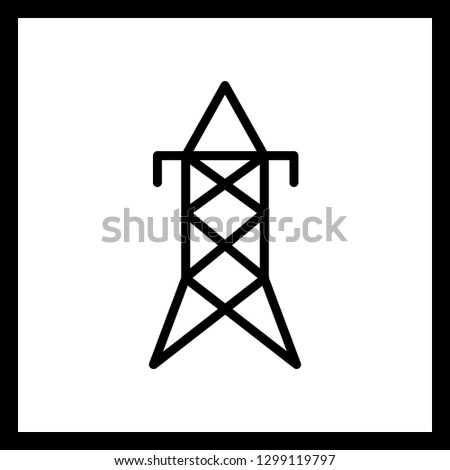 Vector Electric Tower Icon Stock Vector Royalty Free 1299119797