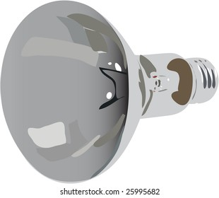 The vector electricity lamp  on white