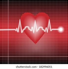 VEctor electrocardiogram  pulse tracing vector