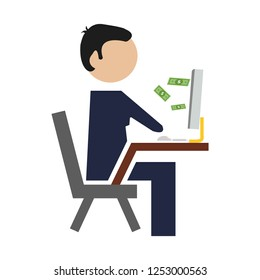 vector electronic trade concept,  e-commerce and shopping Icons, online business store, online marketing