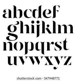 Vector elegant black letters