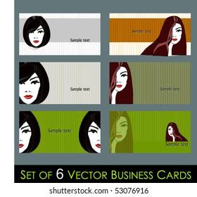 vector elegant call cards