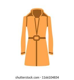 vector elegant dress template, design fashion woman illustration - beautiful womens coat silhouette