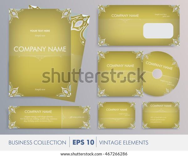 Vector Elegant Vintage Corporate Design Artworks Stock Vector ...