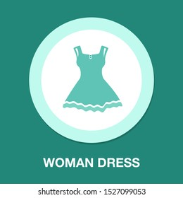 vector elegant woman dress illustration, female clothing - beautiful lady style isolated