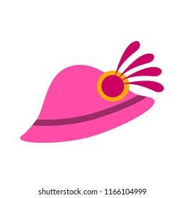 vector elegant women hat illustration. beautiful beauty lady style silhouette, elegant art design