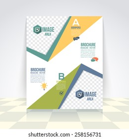 Vector Elements Business Concept Flyer, Brochure Design. Corporate Leaflet, Cover Template