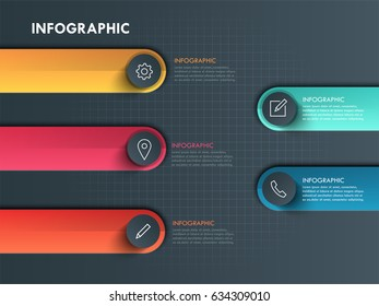 Vector elements for colorfull bar with icon infographic. Template for diagram, graph, Business concept with 4 options, parts, steps or processes.