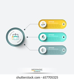 Vector elements for infographic. Template for diagram, graph, presentation and chart. Business concept with 3 options, parts, steps or processes. Abstract background