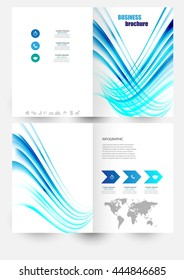 Vector elements for infographic.Flyer poster. Front page.Modern Brochure for business. Headline. Modern template for your work, presentation.Concept with business icons and place for your text. EPS10