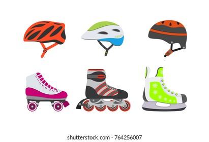 Vector elements for skating.