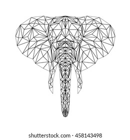 e4d93f72e Vector elephant illustration for tattoo, coloring, wallpaper and printing  on t-shirts.