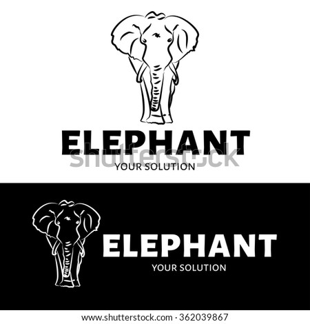 2f5ac746f Royalty-free stock vector images ID  362039867. Vector elephant logo. Brand  logo in the form of an elephant - Vector