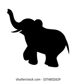 Vector of elephant silhouette
