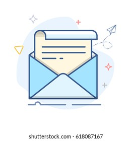 Vector Email Line Icon