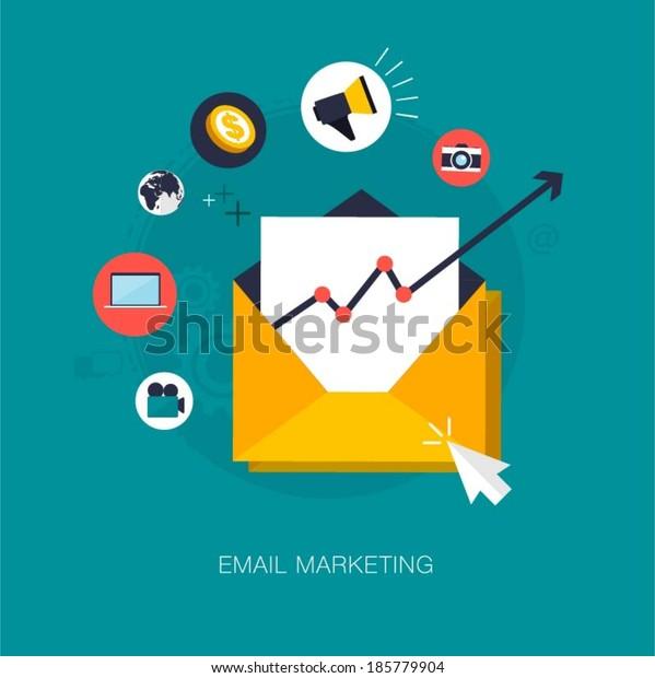 vector email marketing concept illustration