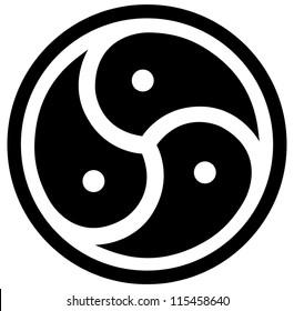 Vector emblem of BDSM