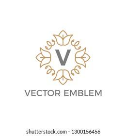 vector emblem minimalist outline logo