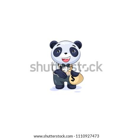 Vector Emoji Character Cartoon Wealth Riches Stock Vector Royalty