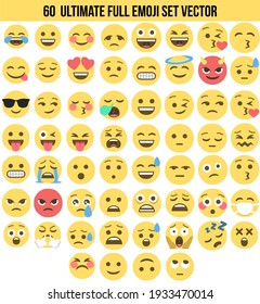 vector emoji pack complete with various expressions