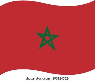 Vector emoticon illustration of the Moroccan flag
