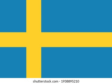 Vector emoticon illustration of Swedish flag