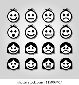 Vector emotion icons.
