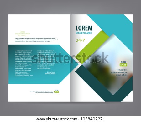 vector empty bifold brochure print template のベクター画像素材