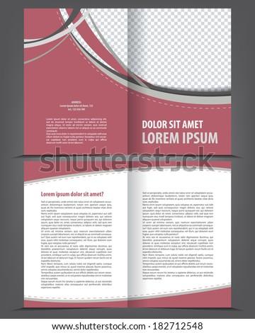 vector empty bifold brochure print template stock vector royalty