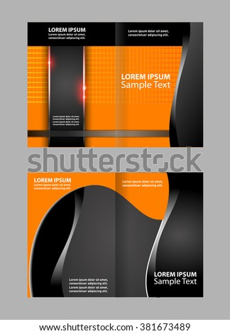 vector empty bifold brochure template design stock vector royalty