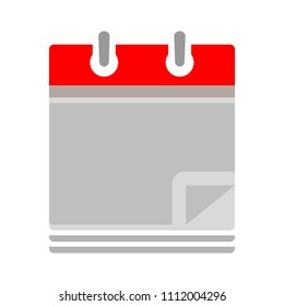 vector empty calendar date - no day - business office event sign, reminder icon