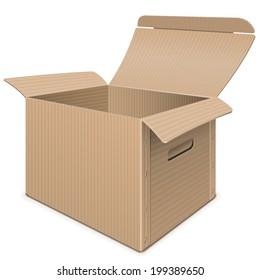 Vector Empty Carton Box