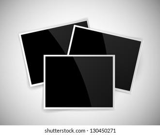 Vector empty glossy photos
