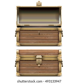 Vector Empty Old Chest