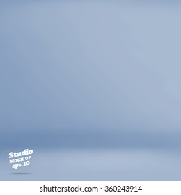 Vector :Empty pastel blue grey studio room background ,Template mock up for display of product,Business backdrop