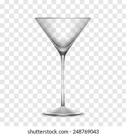 Vector Empty Realistic Glass Isolated on Transparent Background