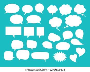 Vector empty speech bubbles set