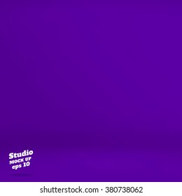 Vector :Empty vivid purple studio room background ,Template mock up for display of product,Business backdrop.